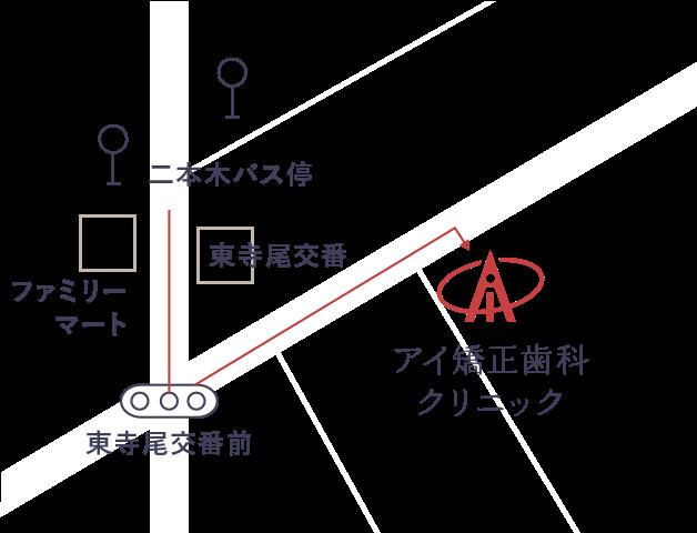 バスでお越しの方マップ